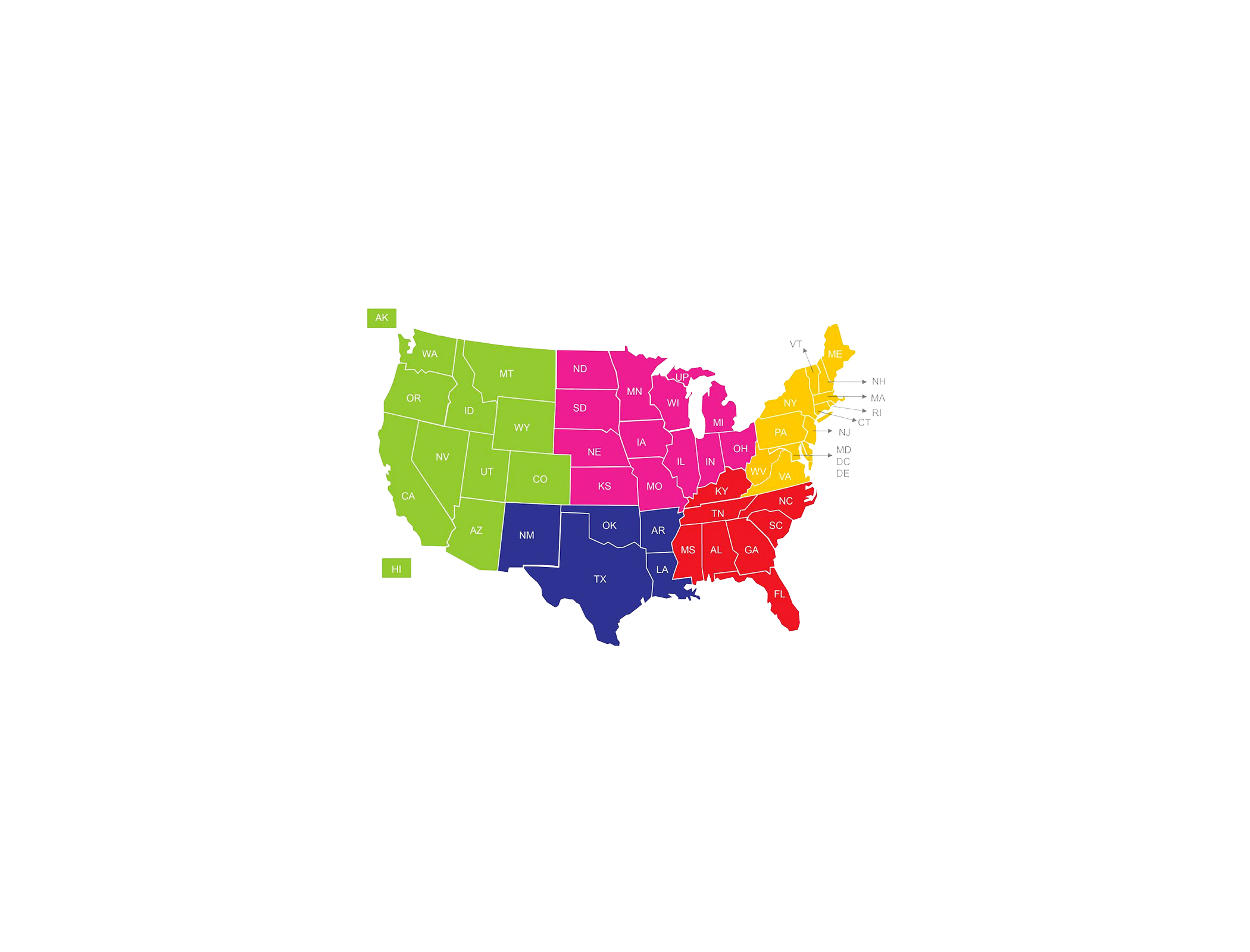 USASF Regional Map
